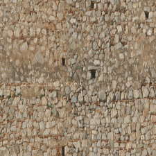 Ancient Fortress Wall for a castle or fortress. Cool texture with lots of different blocks mixed with bricks. Location: Greece.